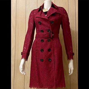 Burberry Laced Red Coat
